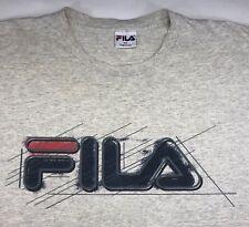 79545453f6d4d Vintage Mens XL 90s FILA Sport Logo Gray T-Shirt