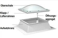 Lichtkuppel 100x100 cm, Dachöffnung 100 x 100 - Lichteinfall 80 x 80