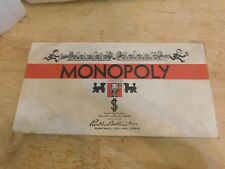 1946 Deluxe Monopoly Board Game Parker Brothers Complete Wooden Pieces