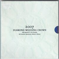 2007 | Elizabeth II & Prince Philip Diamond Wedding £5 Coin Pack | KM Coins