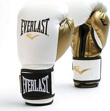 Everlast Powerlock Boxing Training Gloves 12oz White & Gold