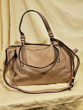 Urban Expressions Tan Satchel purse with optional shoulder strap, preowned