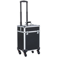 2IN1 Professional Aluminum Beauty Trolley Cosmetic Hairdressing Nail Makeup Box