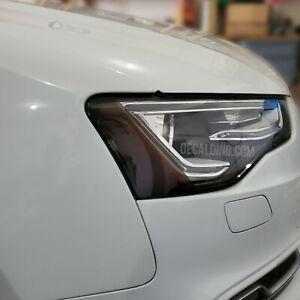 Fits 2013 - 2017 Audi S5 A5 Headlight Reflector Dark Tint Overlay - Smoke Front