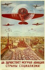 "Russian Vintage Plane Poster Ad 13 x 19"" Photo Print"