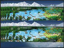 10x china prc 2009-18 huanglong paisajes Scenic Area bloque 156 mnh