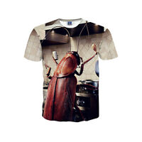 New Men's Insect Graphic Round Neck 3D Print T Shirt Casual Short Sleeve Tops
