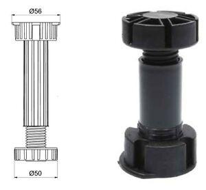 2 x Doppelbett Mittelbalkenstützfuß höhenverstellbar 133-175 mm zum anschrauben