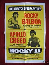 ROCKY II 2 * 1979 ORIGINAL MOVIE POSTER 1SH RARE BOX OFFICE REMATCH STYLE NM-M