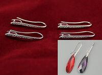 10PCS DIY Making Jewelry Findings Silver Dangle Pinch Bail Ear Wire Hook