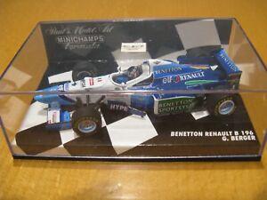 Minichamps  F1 Benetton Renault G Berger Pauls Model Art Formula Scale 1:43