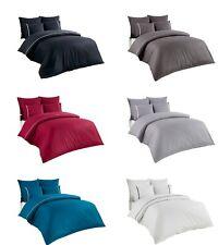 Bettwäsche Bettgarnitur Baumwolle 200x200 200x220 220x240cm 5tlg. Uni Streifen