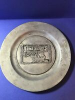 """York Metalcrafters """"The Depot"""" - 10-1/4"""" Pewter plate"""