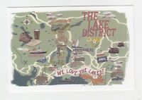 Mint Map Postcard of The Lake District by Star Editions