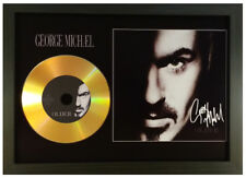 GEORGE MICHAEL 'OLDER' SIGNED PHOTO GOLD CD DISC COLLECTABLE MEMORABILIA GIFT