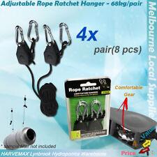 [4x] Heavy Duty Rope Ratchet Light Reflector High Quality Hanger Hydroponics