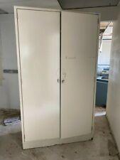 Large Metal Laboratory Storage Cabinet With Metal Doors Amp Deep Shelves