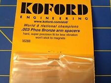 KOFORD M266 .003 Bronze Armature Spacer 12 pack 1/24 slot  Mid-America Raceway