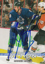 MAREK MALIK CANUCKS AUTOGRAPH AUTO 03-04 IN THE GAME ACTION #539 *21670