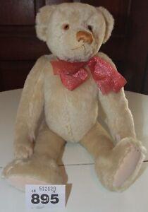 Teddy bear, 15 inches, white mohair. W895