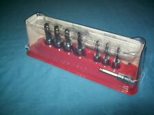 "NEW Snap-on™ 1/4"" 3/8"" drive 1/8"" 3/8"" ball-end Hex Socket Driver Set 208EFTABY"