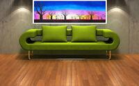 "Print tree boab landscape australia painting canvas sunset art 36"" x12"""