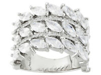 Size 8- Bella Luce 9.52ctw Rhodium over Sterling Silver Ring