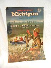 1958 Michigan Rand McNally Fishing & Hunting Guide