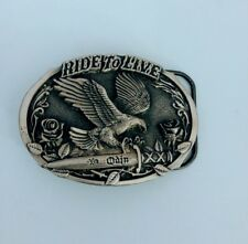 Ride to Live Eagle on Knife Belt Buckle 1994 Gap 4096 USA