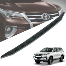 FRONT LINE BONNET HOOD TRIM MATTE MATT BLACK FOR TOYOTA FORTUNER SW4 2015-2017