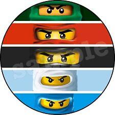 Lego Ninjago Décoration  Gateau Disque Azyme Comestible  20cm