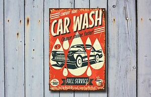 Car Wash Metal Sign, Mechanics, Cars, Vintage, Car Service, Garage Decor, 933