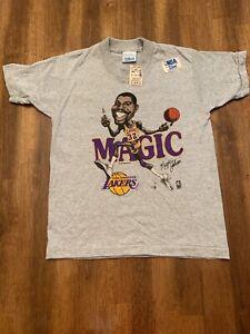 Vintage NWT Magic Johnson Lakers Single Stitch Salem Sportswear Shirt Kids 10-12
