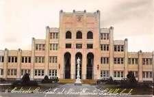 Saltillo Mexico Ateneo Fuentes High School Tinted Real Photo Antique PC K18937