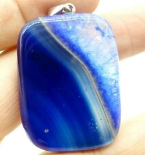 39*30MM Natural picture agate pendant Gem Beads Jewelry making necklace A44