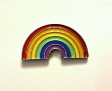 Rainbow colours enamel pin badge 28mm