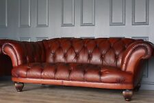 TETRAD Oskar vintage  cigar chesterfield antiqued leather sofa RRP £2500