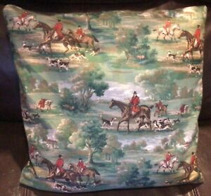 Fox Hunt Hunting Slip Cover Throw Pillow #1