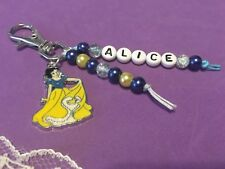 Personalised Snow White Bag Charm, School Bag Name Charm
