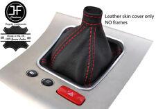 Punto rojo grano superior de cuero real Gear Polaina se adapta a Alfa Romeo 159 2005-2011