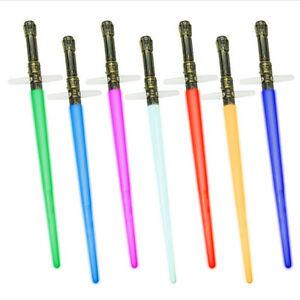 2PCS Star Wars 2 in 1 Folding Colorful Lights Led Lightsaber Cross Sword Sound