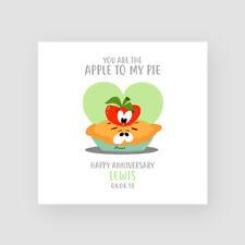 Personalised Handmade Funny Anniversary Card - Husband, Wife, Apple Pie