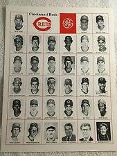 RARE Cincinnati Reds Team Pix Presented by GE-Rose, Schott, Davis, Larkin, Perez