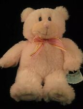 My 1st Teddy Bear Pink By Russ Embroidered Gray Eyes 33P5 Stuffed Animal Toy