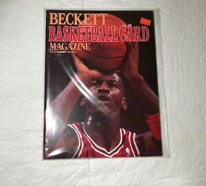 """Michael Jordan """"FIRST ISSUE""""  Beckett Basketball Magazine March/April 1990"""
