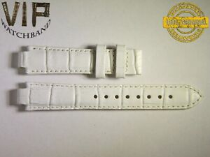 NEW OEM Authentic TISSOT strap 16 mm genuine leather White color