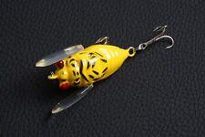 1pcs Cicada 4cm/6.5g Fishing tackle 8# Hook peche Lure Wobbler baits bass NEW