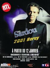 Publicité advertising 2001 Concert Michel Sardou Bercy