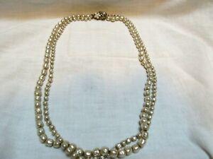 Vintage Original By Robert Faux Baroque Pearls Necklace 2 Long Strands