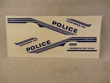 Res1Cue Customs - Washington Twp.Police Decals  98 Ford  1:43  (718)